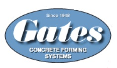 Gates Concrete Forms LOGO